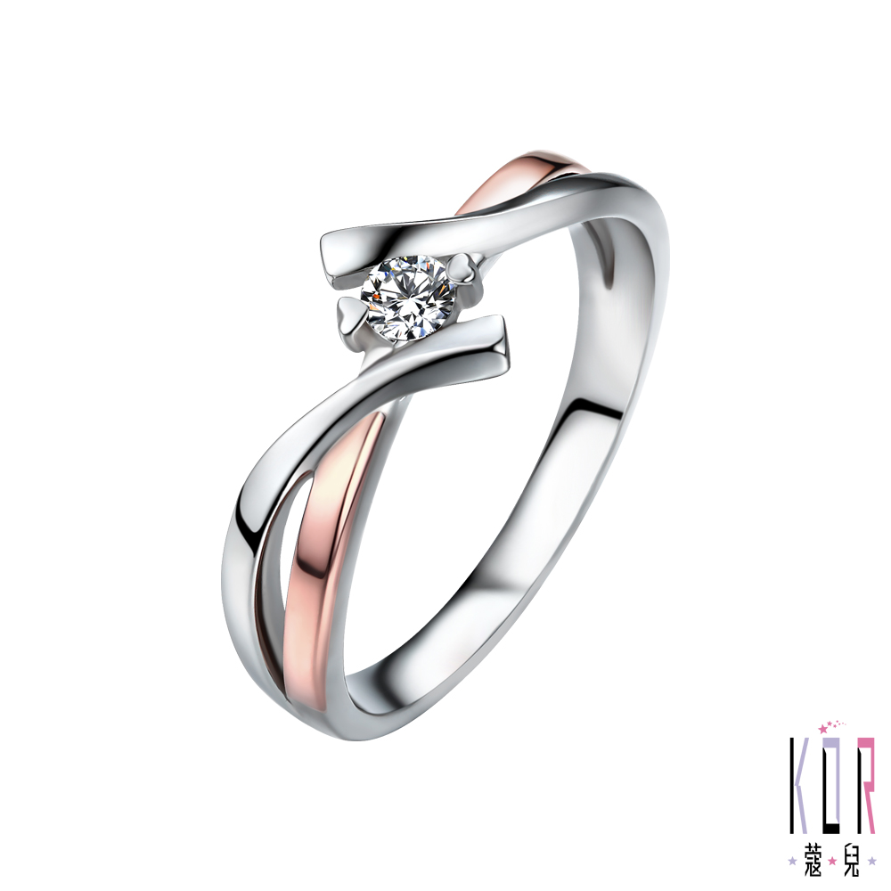 K'or蔻兒 交織幸福 0.10克拉鑽石女戒指