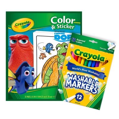 美國crayola海底總動員貼紙著色組3Y