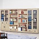 H&D 原切橡木10.5尺書櫥 (寬318X深32X高184.5cm)