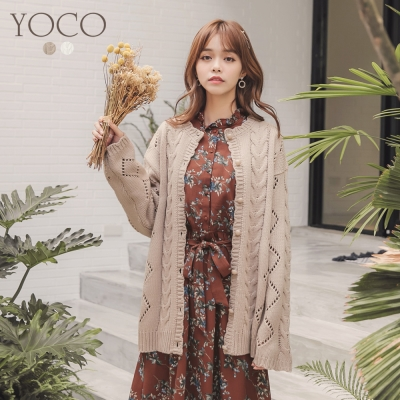 東京著衣-yoco 慵懶美人針織毛衣外套(共二色)