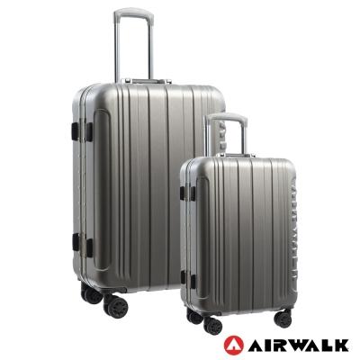 AIRWALK LUGGAGE - 金屬森林 鋁框行李箱 20+28吋兩件組-碳鑽灰
