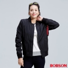 BOBSON  女款防風飛行夾克-黑色