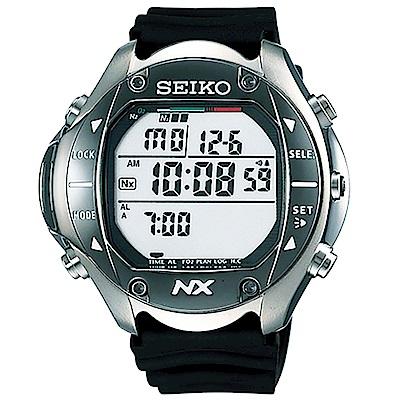 SEIKO Prospex 【鈦】專業潛水多功能電腦腕錶-黑/58mm