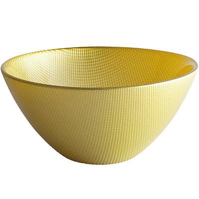 EXCELSA Diamond菱紋玻璃碗 綠15cm