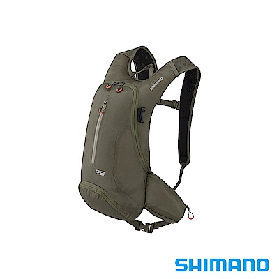 SHIMANO ROKKO 全功能背包-無水袋 8L 橄欖綠