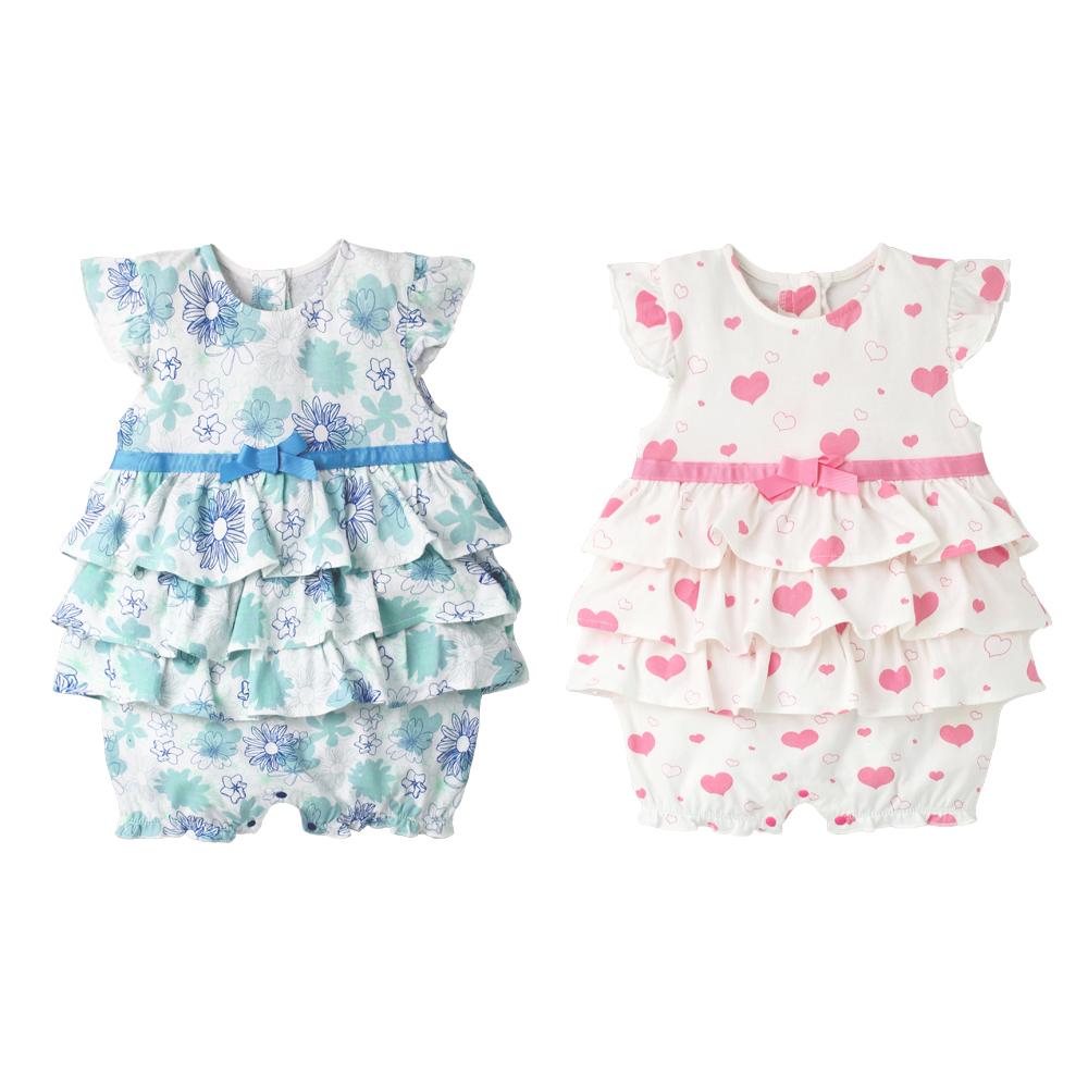baby童衣 小飛袖蛋糕裙連身衣 61136