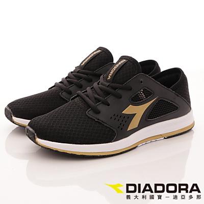DIADORA-輕彈乳膠慢跑款-CFI370黑(男段)