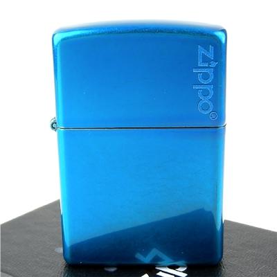 【ZIPPO】美系~LOGO字樣打火機-Cerulean-天藍色烤漆