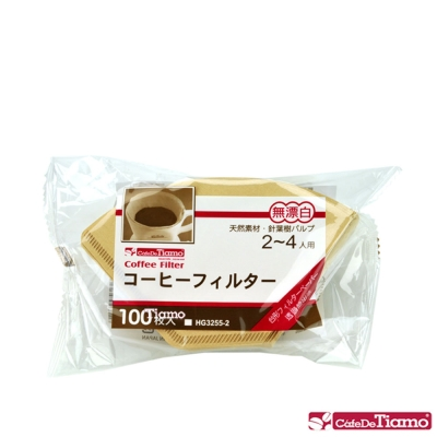 Tiamo 102無漂白咖啡濾紙100入*<b>3</b>袋/組 (HG3255-<b>2</b>)