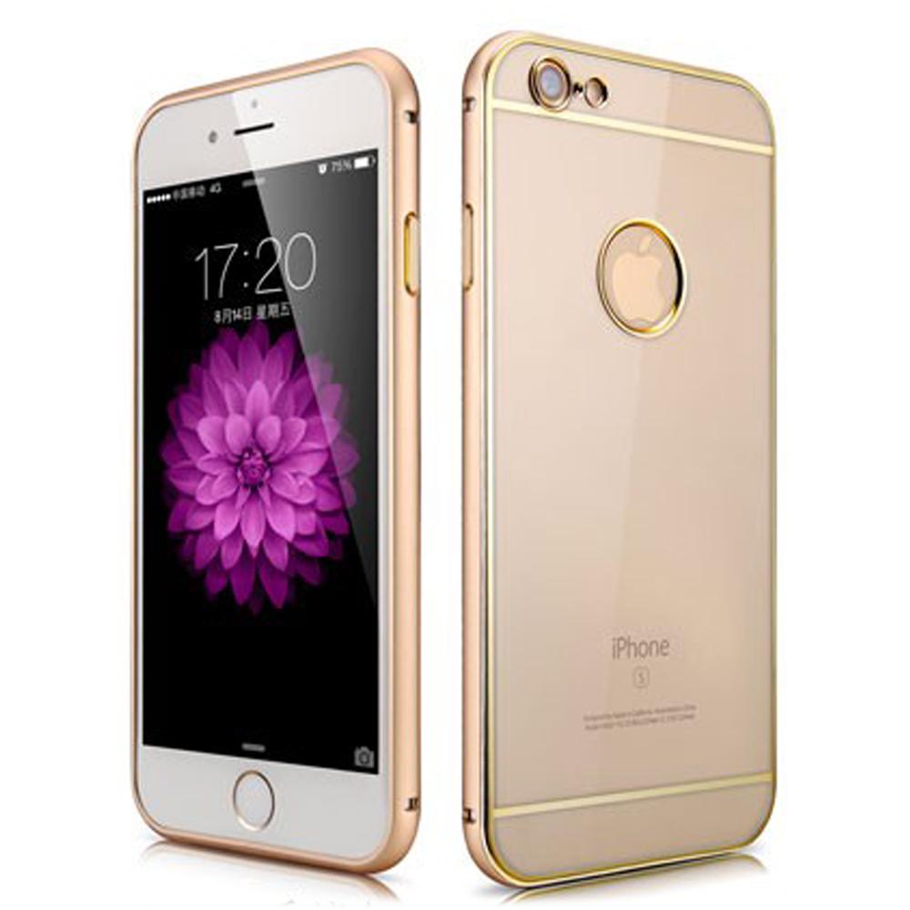 XOOMZ 金薄二代 iPhone6S plus(5.5)金屬邊框+透明背板手機殼