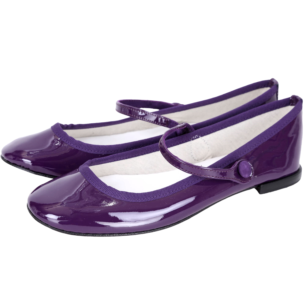 Repetto Lio Mary Jane 漆皮素面瑪麗珍鞋(紫色)