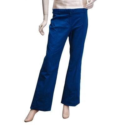 BALENCIAGA 都會中性寬版素面長褲(寶藍-40)