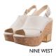 NINE WEST--魚口厚底粗跟涼鞋-知性