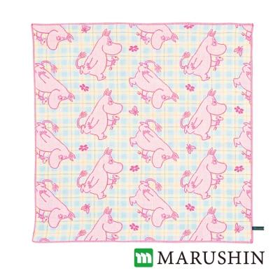 日本丸真 Moomin今治三層紗布方巾-嚕嚕米之花