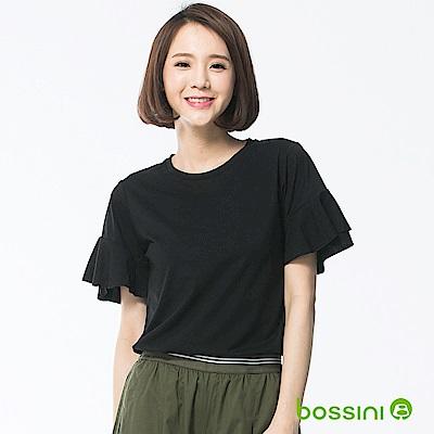 bossini女裝-圓領短袖上衣10黑