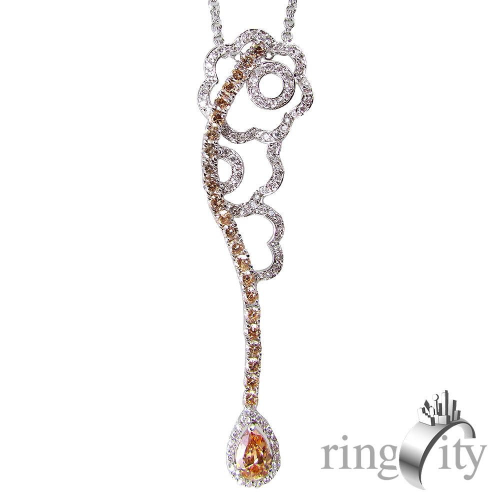 RingCity 金花朵朵環繞造型吊墜鍊