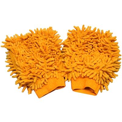 韓式雙面長毛超細纖維靜電除塵魔術手套2隻533X2(顏色隨機出貨)