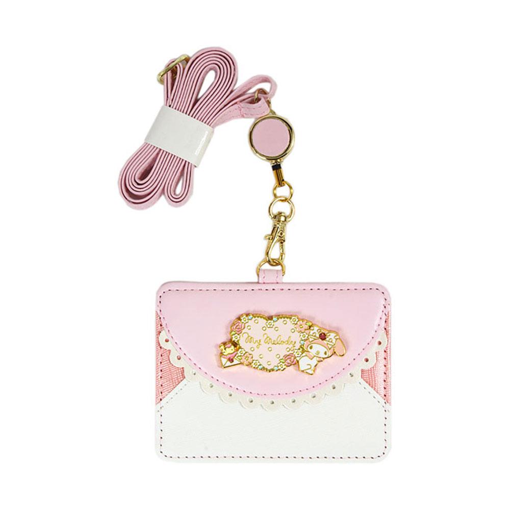 Sanrio 美樂蒂PU皮革識別証套附可伸縮頸帶(花語信封)