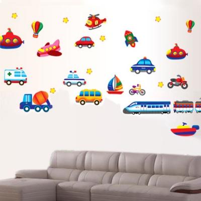 D-004童趣生活系列-交通世界 大尺寸高級創意壁貼 / 牆貼