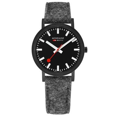 MONDAINE 瑞士國鐵Classic限量腕錶-36mm/IP黑灰