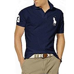 Polo Rlaph Lauren 經典大馬刺繡短袖Polo衫-深藍色