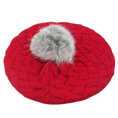 【iSFun】鬆軟棉織兒童貝蕾帽(紅)