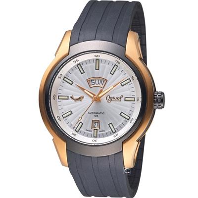 Ogival 愛其華 氚氣燈管機械腕錶(826ATGRB)白/45mm
