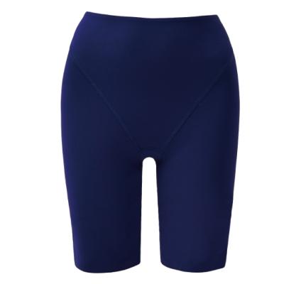 思薇爾 舒曼曲現系列64-82素面高腰長筒束褲(經典藍)