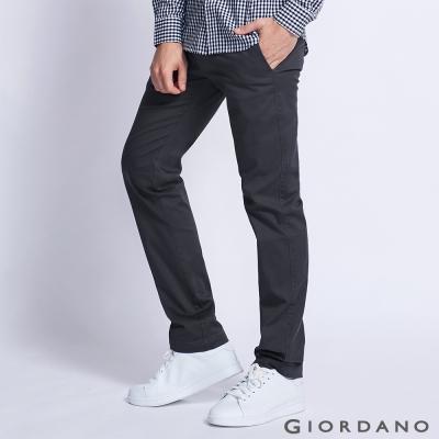 GIORDANO 男裝基本款休閒直筒褲 - 07 石頭深灰