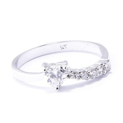 【山本美樹】 蜜糖甜心  奧地利水晶 戒指 (銀色)