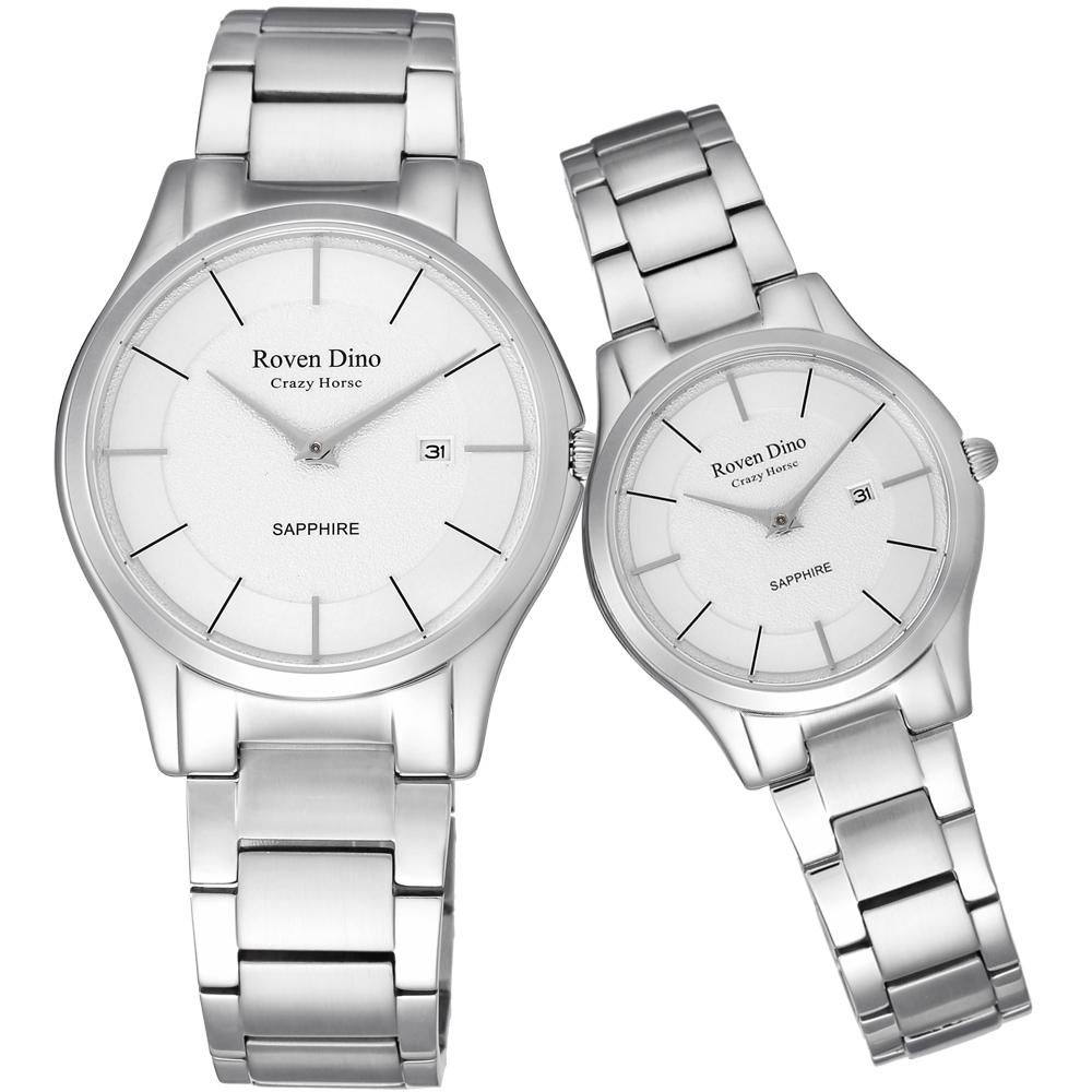 Roven Dino羅梵迪諾  醉星庭園時尚對錶-白-41X32mm