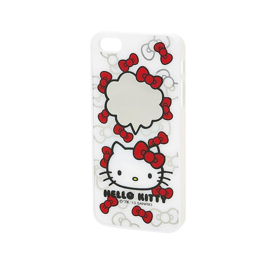 Sanrio HELLO KITTY鏡面iPhone5 5S保護殼緞帶