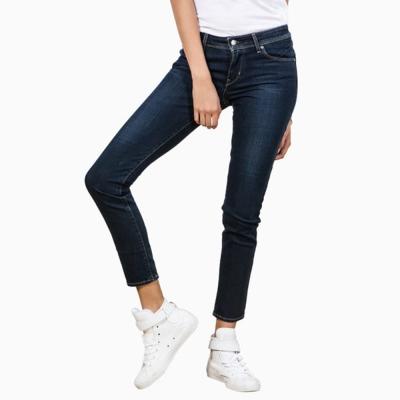 Levis 女款 Revel 中腰緊身提臀牛仔長褲 高彈力塑型布料