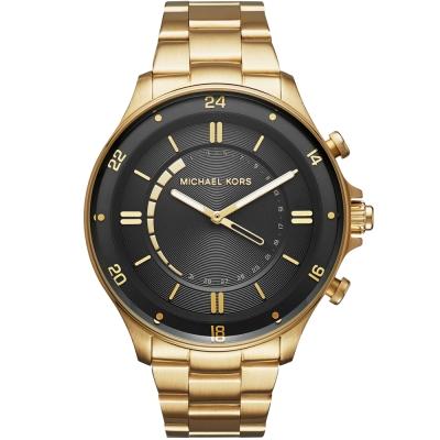 MICHAEL KORS Smartwatch智慧型指針式連線手錶-黑X金/45mm