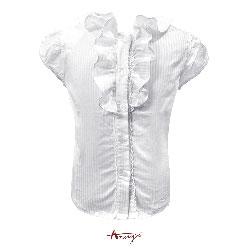 Annys簍空布蕾絲領條文無袖上衣*1169白
