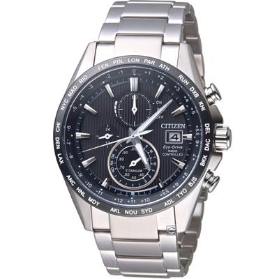 星辰CITIZEN GET'S系列鈦金紳士電波計時腕錶(AT8154-82E)-42mm