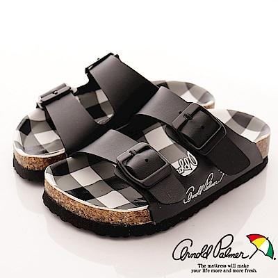 雨傘牌 休閒皮質涼鞋款 EI84709 黑 (中小童段)