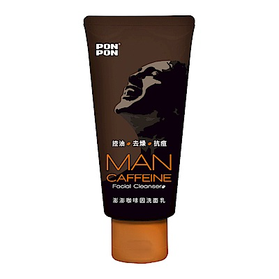 澎澎MAN 咖啡因洗面乳-100g