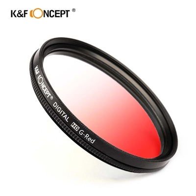 K&F Concept 超薄無暗角清晰漸變圓形濾鏡 紅色