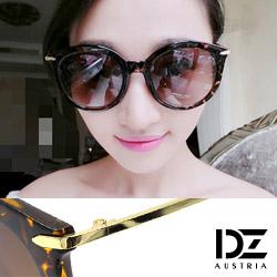 DZ 纖細線調 抗UV 太陽眼鏡墨鏡(花紋框漸層咖)