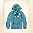 Hollister HCO 長袖 帽T 藍色 0512