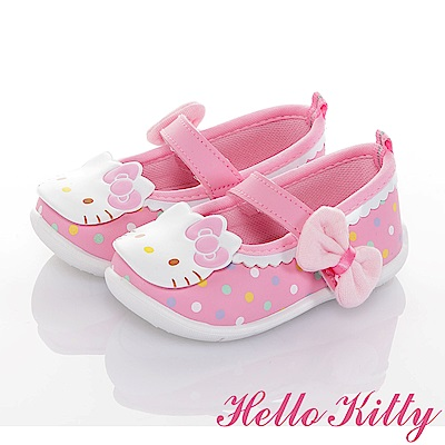 HelloKitty 輕量減壓抗菌防滑學步娃娃童鞋-可室內-粉