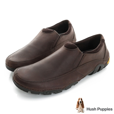 Hush Puppies FULLE 黃金大底直套式休閒鞋-咖啡色