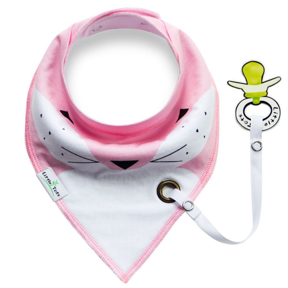 colorland 【4入】嬰兒奶嘴環三角巾圍兜寶寶雙層口水巾 product image 1