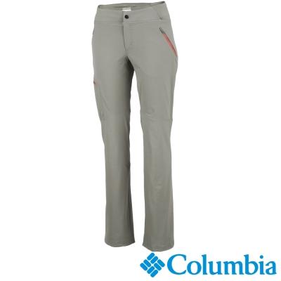 【Columbia哥倫比亞】女-快排防曬50彈性長褲-淺灰 UAL80130FL