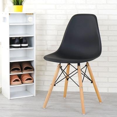 Homelike 歐斯造型椅(沉穩黑)-46x41x82cm