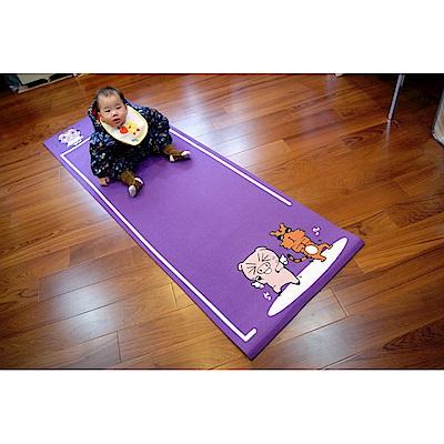 【 X-BIKE 晨昌】 X-BIKE 台灣精品 環保無毒-卡通造型瑜珈墊 -紫色