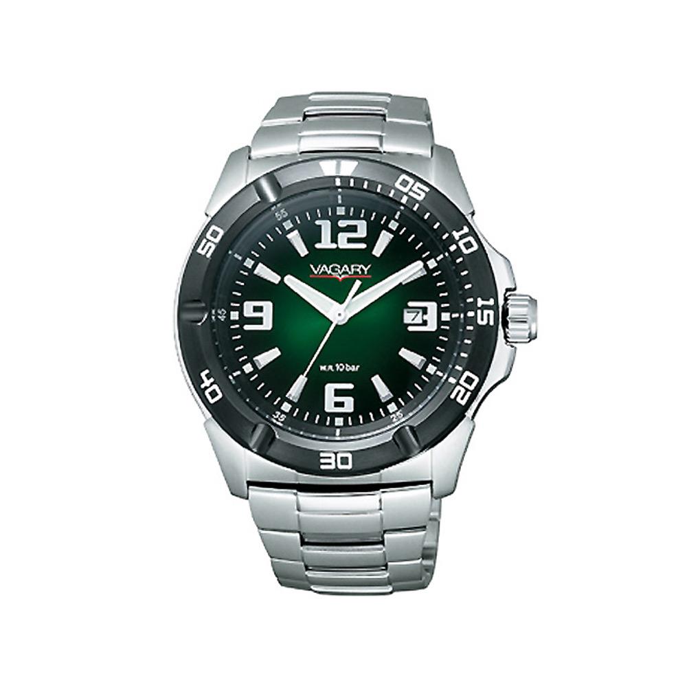 VAGARY 迷幻雷射個性中性腕錶(森林綠/43mm)