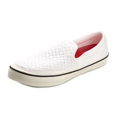 (男/女)Ponic&Co美國加州環保防水編織懶人鞋-白色