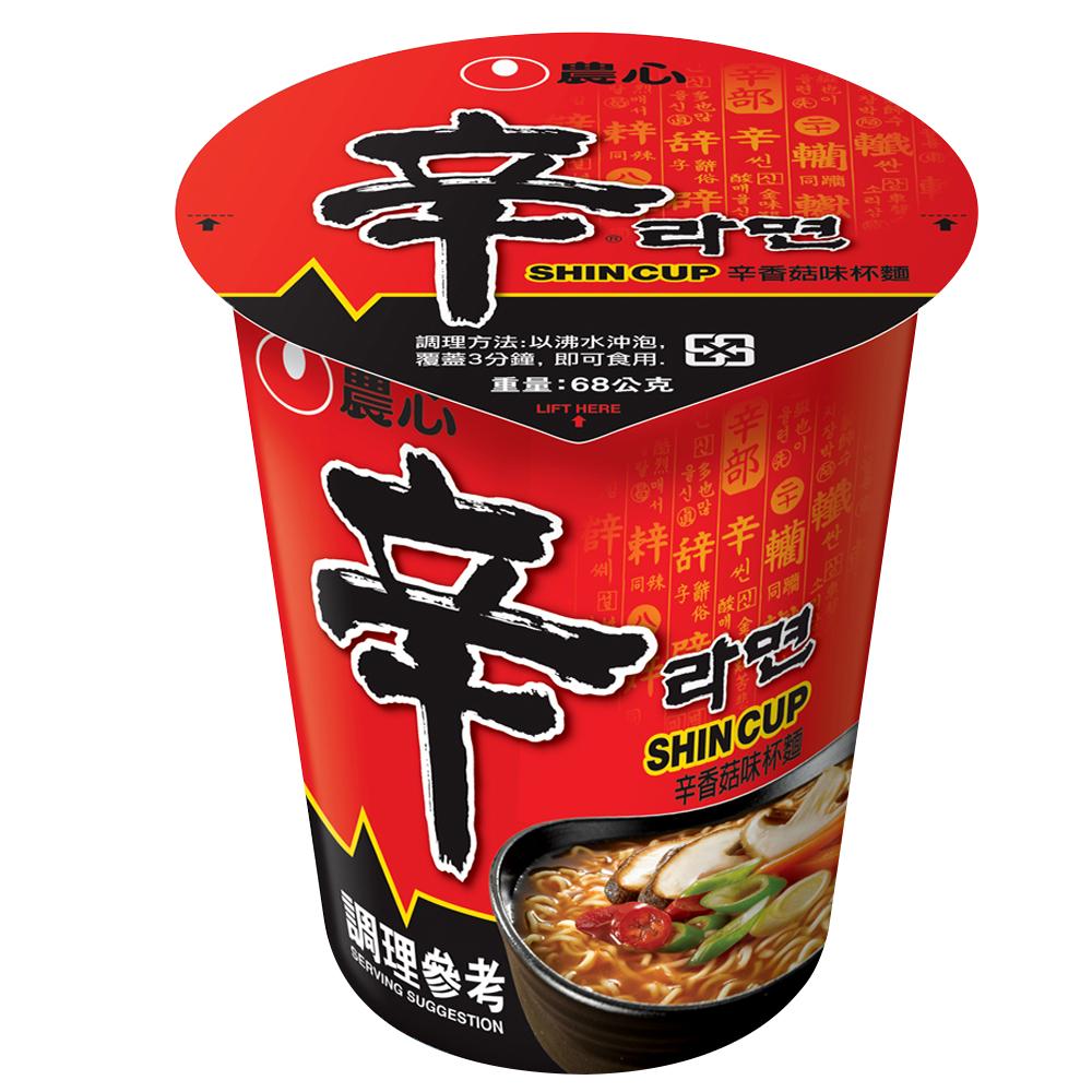 農心 辛香菇味杯麵(68g)